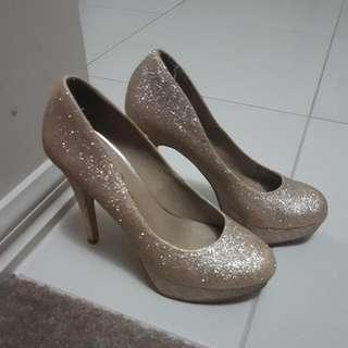 Size 8 Glitter High Heels