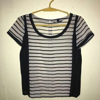 American Eagle Sheer Striped Top [Authentic]