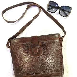 authentic leather jogja sling bag handmade