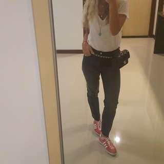 H&M high waist cropped jeans