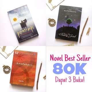 Novel Best Seller 80K Dapat 3 Buku!