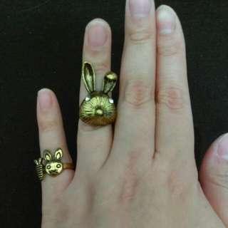 兔兔 戒指 兩款可挑 #內有更多飾品特價#