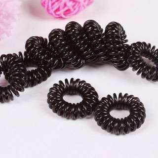 10 PCS Black Elastic Girl Rubber Hair Ties Bands Headband Rope
