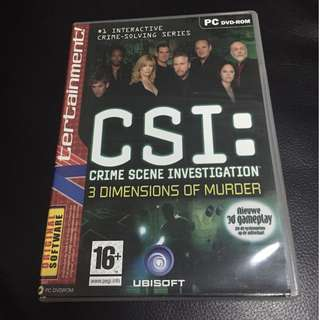 CSI 3 Dimensions of Murder Game for PC (DVD-ROM)