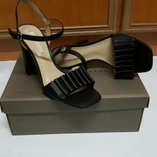 Charles And Keith Black Wedge Heels Size 38