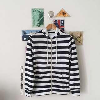 H&M Striped Hoodie Jacket