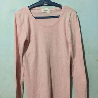 Pink Korean Long Sleeves