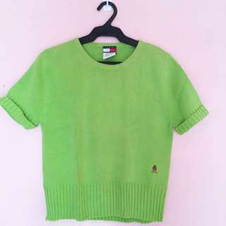 Tommy Hilfiger Green Knitted Shirt