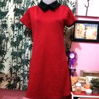 Mini Dress Colar Marron