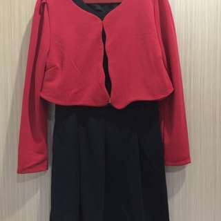 Working Red Dress Size M