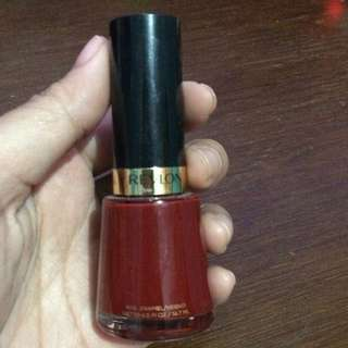 Revlon Nail Polish (Raven Red)