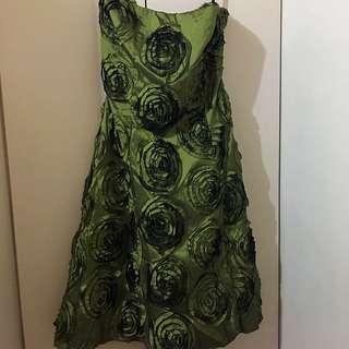 Moss Green Cocktail Dress
