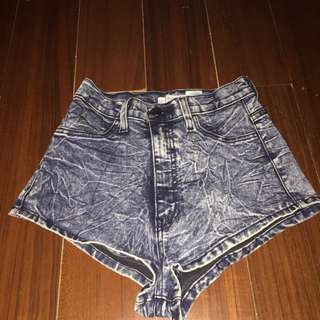 denim highwaist short