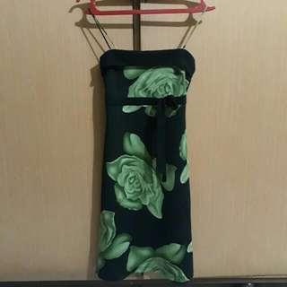 Mini Dress Kemben Motif Bunga