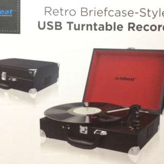 Mbeat Retro Briefcase-styled USB Turntable