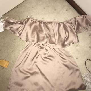Silky Rose Gold Dress