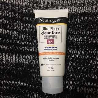 Neutrogena Ultra Sheer Clear Face Sunscreen