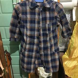 Blouse Checkered Blue Small