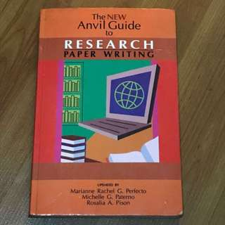 The New Anvil Guide To Research Paper Writing