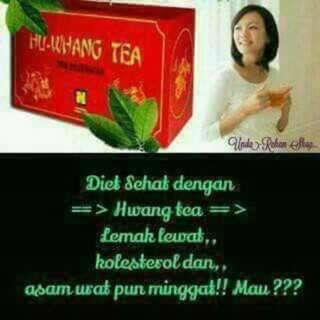 Hu Wang Tea. Teh Pelangsing. Untuk Membakar Lemak