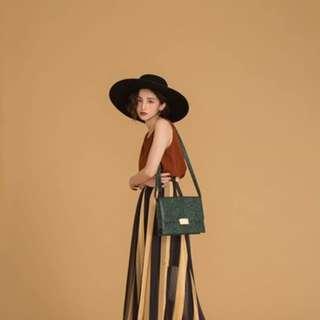 從前從前 dresseum 茂木太太 黑金條紋長裙