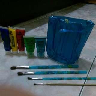 水彩筆.顏料.水袋 #轉轉來交換 #五月免購物直接送