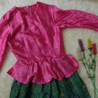 Pink & Green Dress