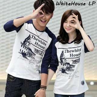 Lengan Panjang Couple | Kaos Couple | Kaos Keren | Kaos Murah | Whitehouse Lp