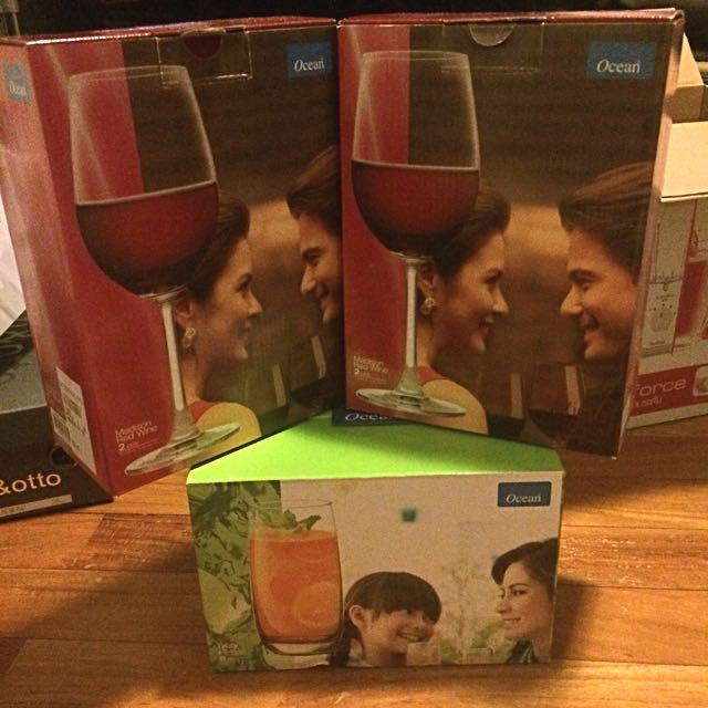 4 Drinking Glasses & E Wine Glasses