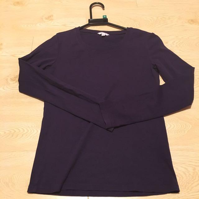 紫色長袖上衣