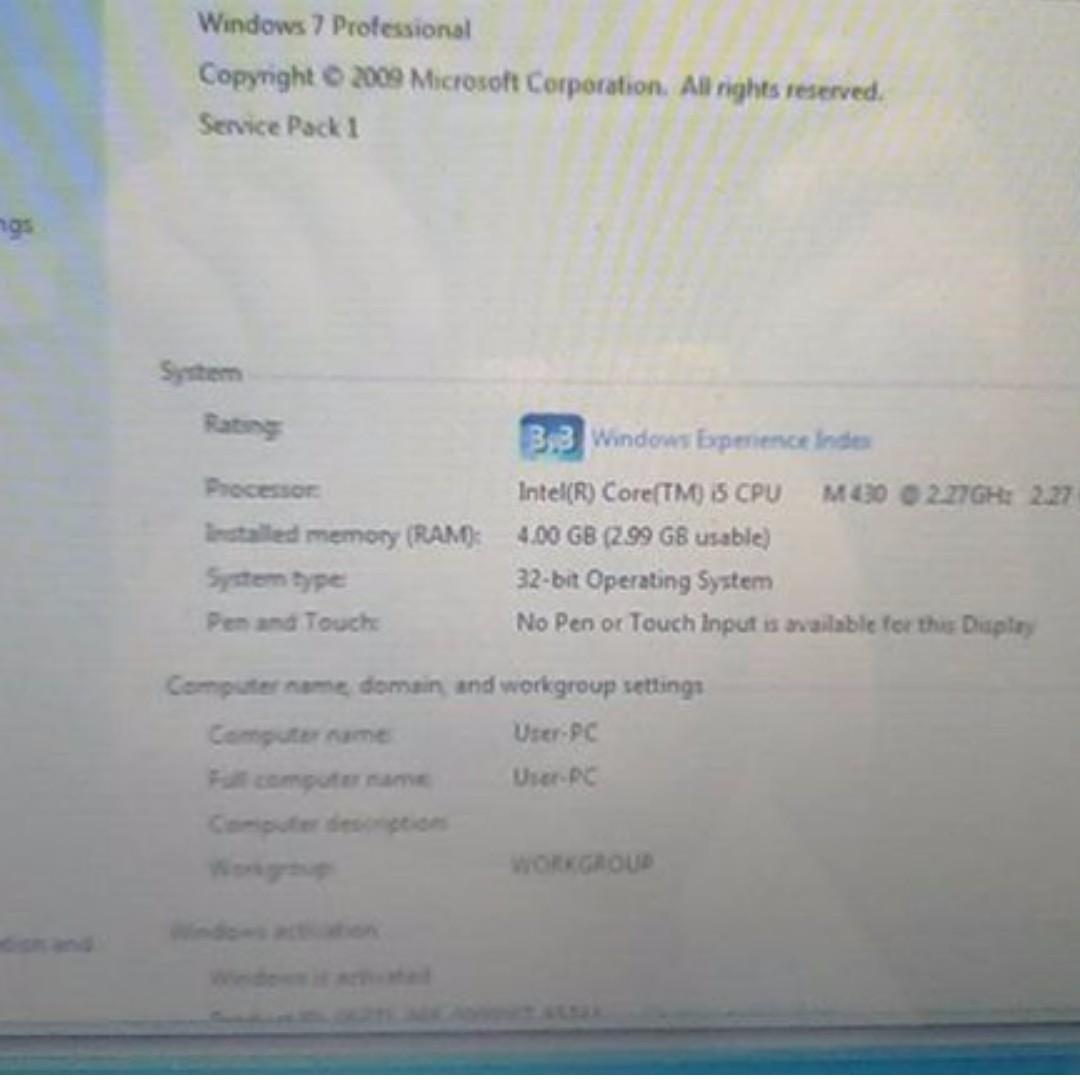 Acer laptop i5