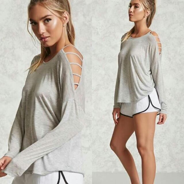 Active Ladder Sleeve Top