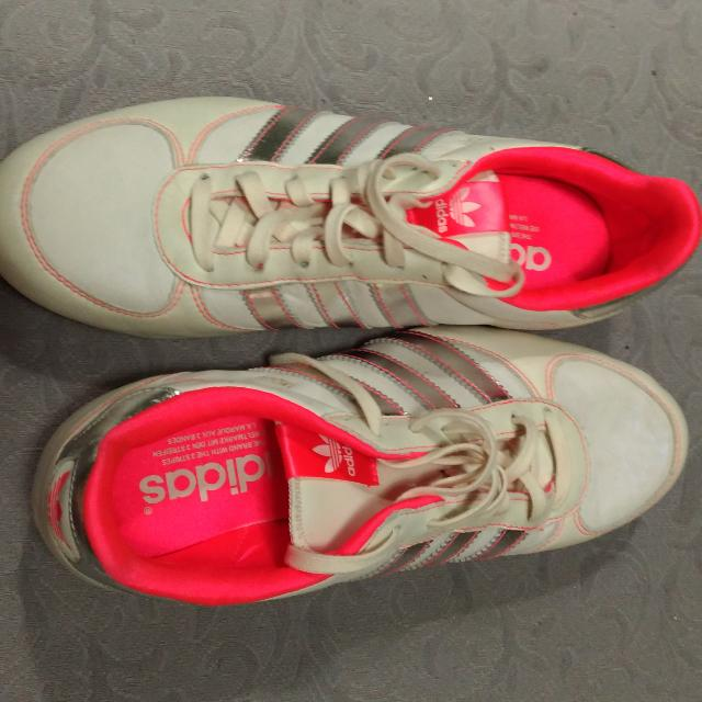 Adidas ORIGINAL Woman White-Silver Pink Inside No 40