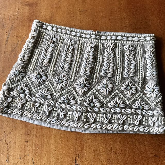 All Saints Embellished Mini Skirt