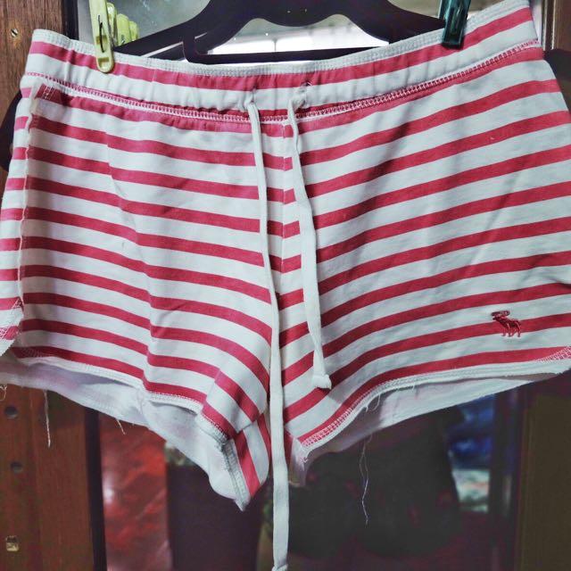 Beach Shorts (Red Striped)