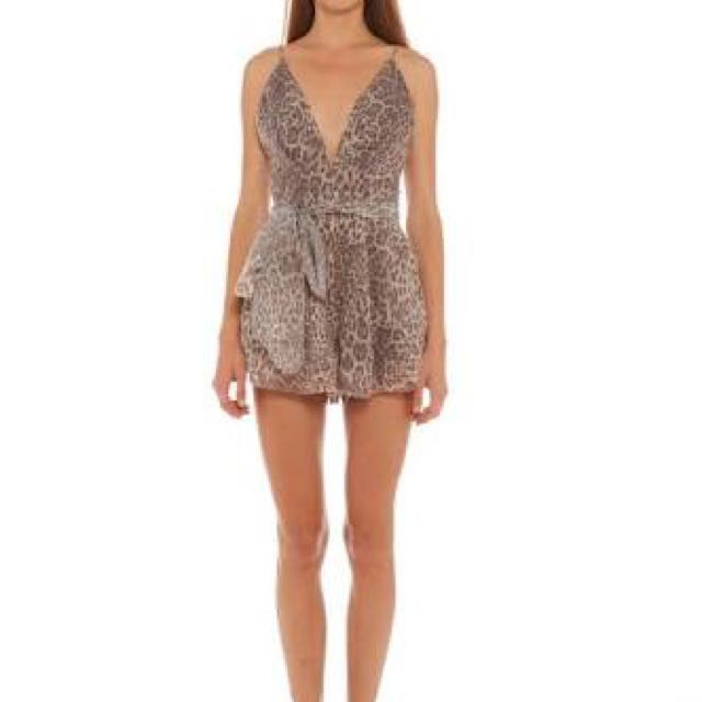 Bec And Bridge Leopard Playsuit