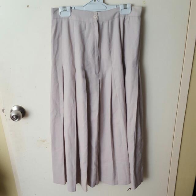 Beige High Waisted Skirt