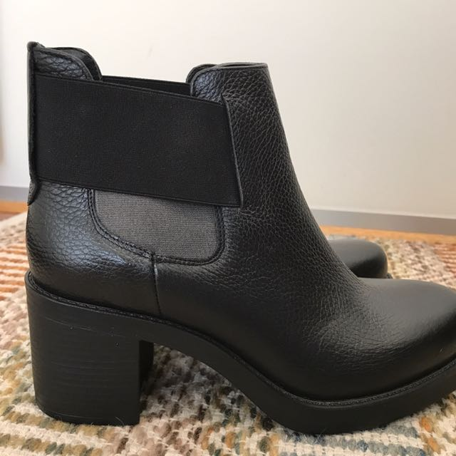Black Italian Ankle Boots
