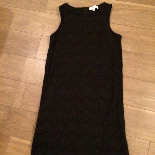 Black Shift Dress Sz 6-8