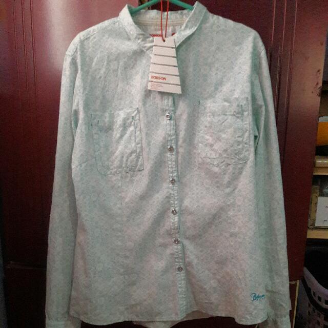BOBSON Mint Floral Long Sleeve