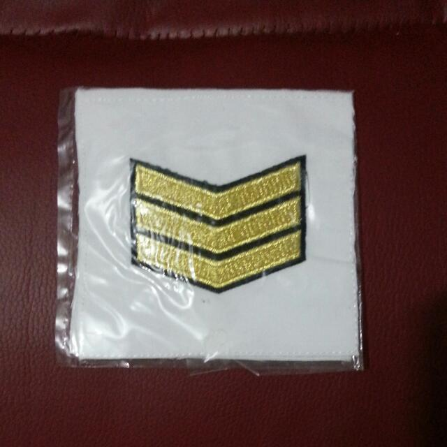 Brand New SAF Navy Military Number No 3 3SG Third Sergeant