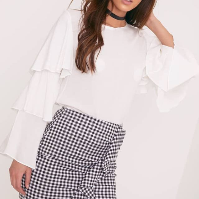 BRAND NEW WITH TAGS ~ Liana Gingham Skirt