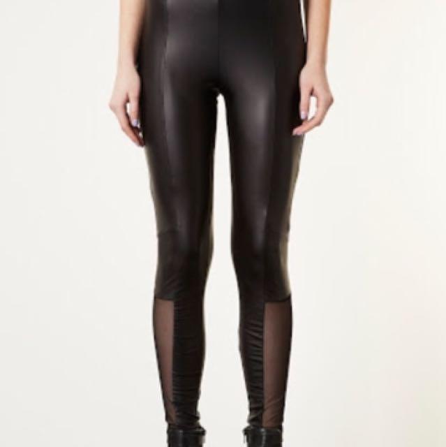 Branded Topshop Leggings (Mesh, Wet-look)