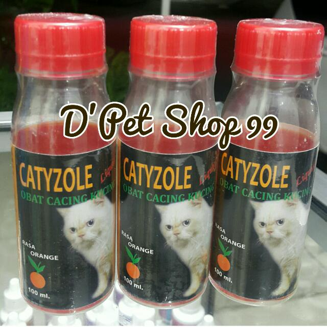 Catyzole Liquid Sirup Obat Cacing Utk Kucing Rasa Jeruk, Pet Supplies, Accessories on Carousell
