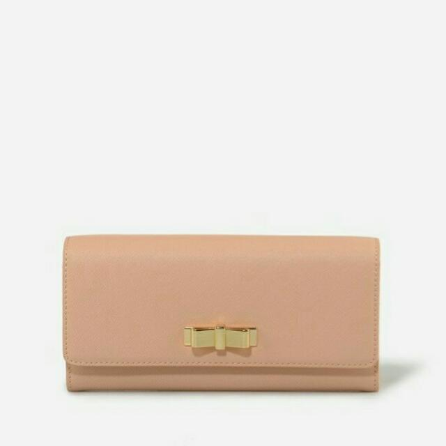 Charles and Keith Bow Nude Wallet