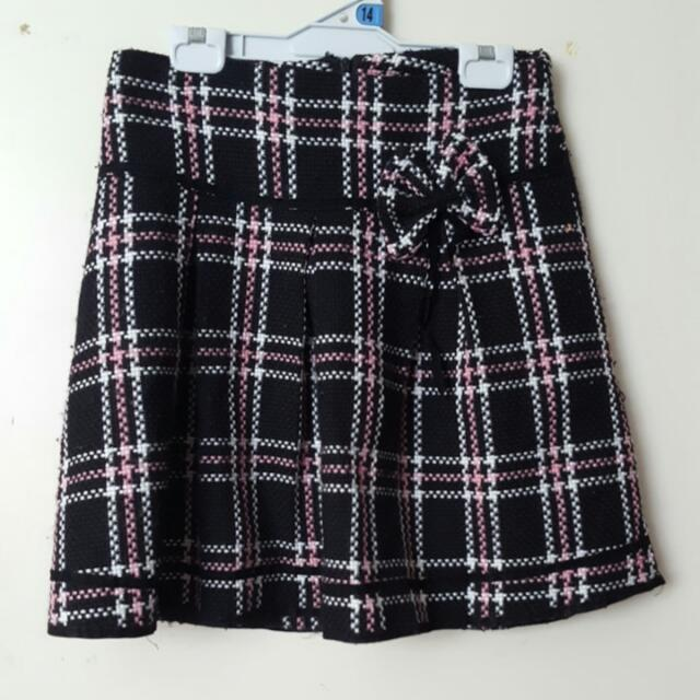 Checked Woollen Skirt