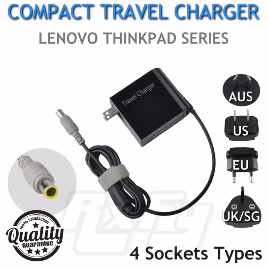 Compact Laptop Charger Adapter for IBM / Lenovo ThinkPad Series T420, T430,  X100e, X200, X200s, X200, X201 X300 (with Local Warranty)