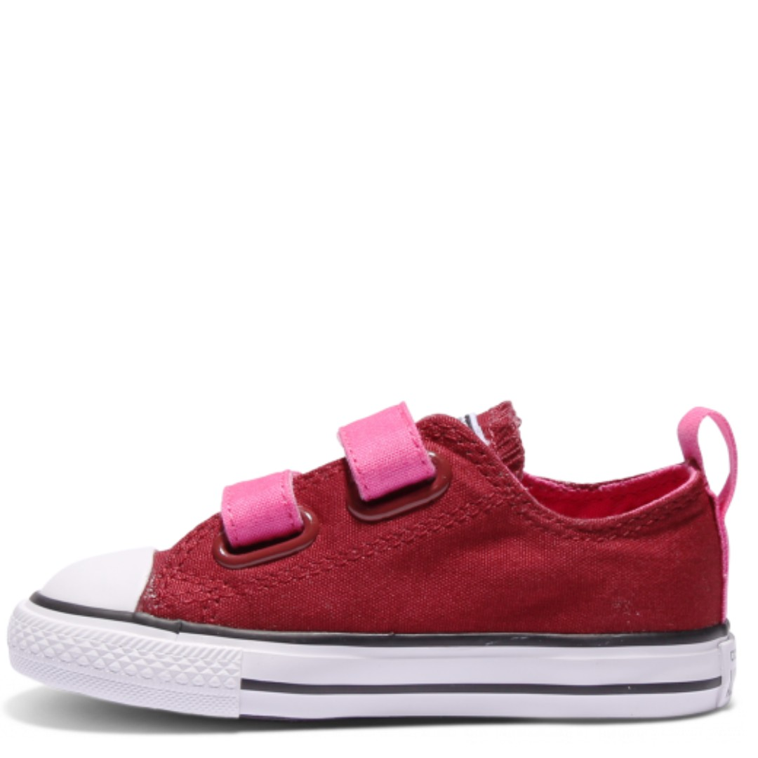 878e0612268c Converse Chuck Taylor All Star 2V Toddler Low Top (Red Block ...