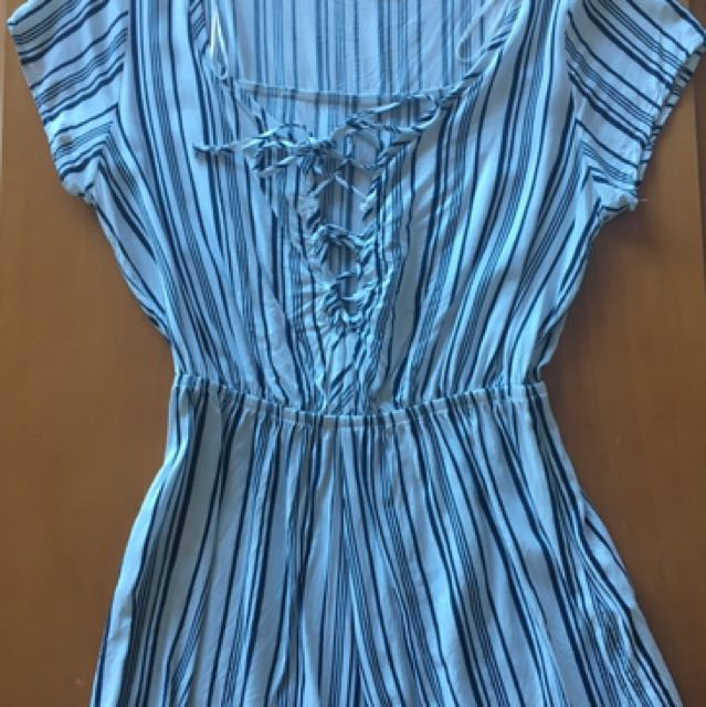 Cotton On XS striped Playsuit