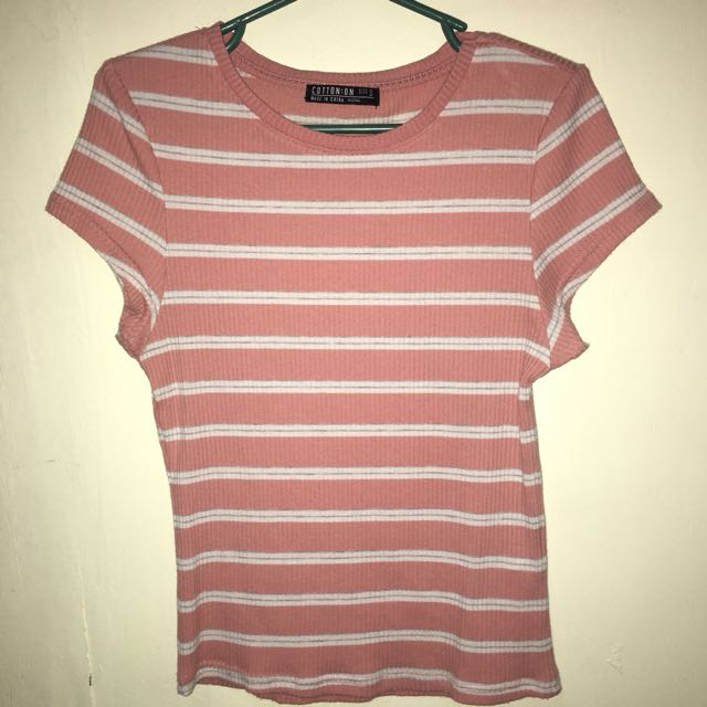 CottonOn Pink/White Striped Top [Authentic]
